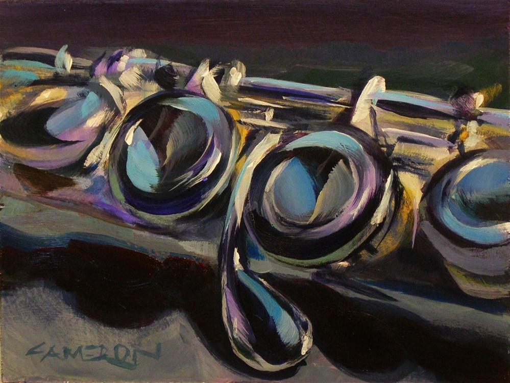 """""""FLUTE TOO"""" original fine art by Brian Cameron"""