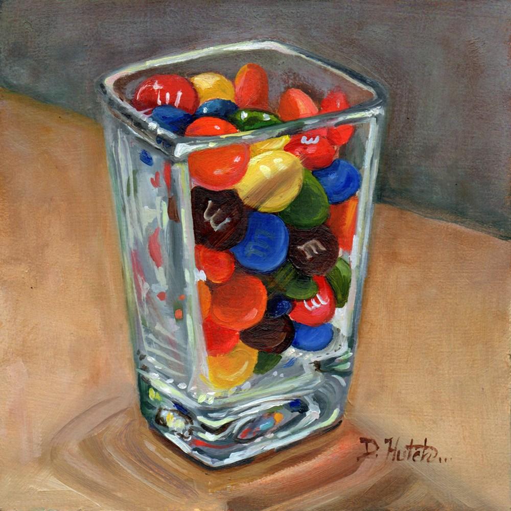 """A Shot of M&Ms"" original fine art by Diane Hutchinson"