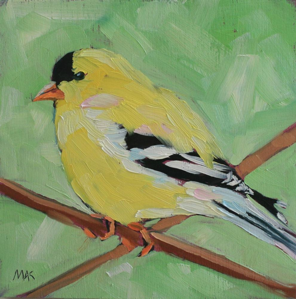 """Goldfinch 2"" original fine art by Mary Anne Cary"