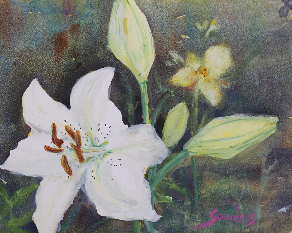 """Lilly Blossom"" original fine art by Michael Saunders"