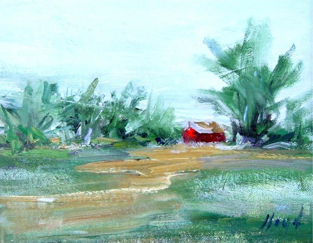 """Little Red Barn"" original fine art by Diane Lloyd"