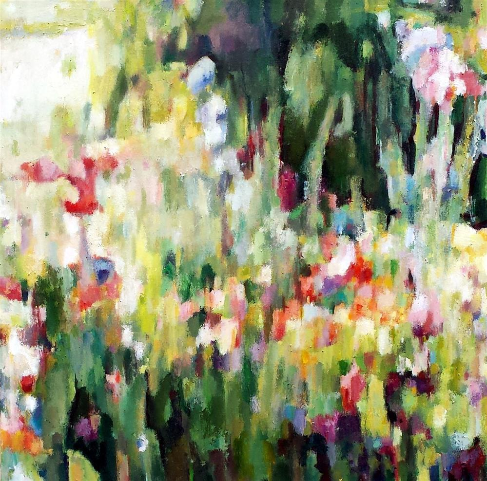 """Wildflower Abstract 4"" original fine art by Nava Judith"