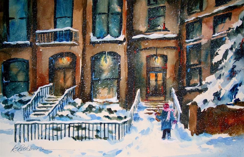"""Got the Bread and Milk"" original fine art by Kathy Los-Rathburn"