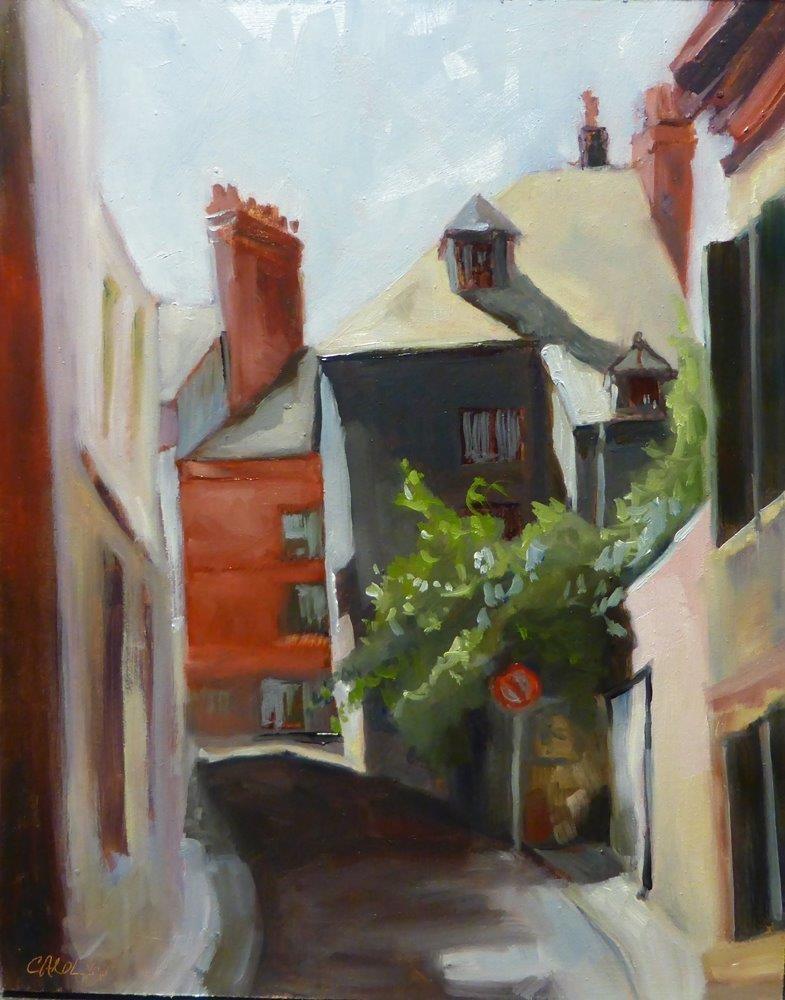 """Lane Way Honfleur, France"" original fine art by Carolynn Doan"