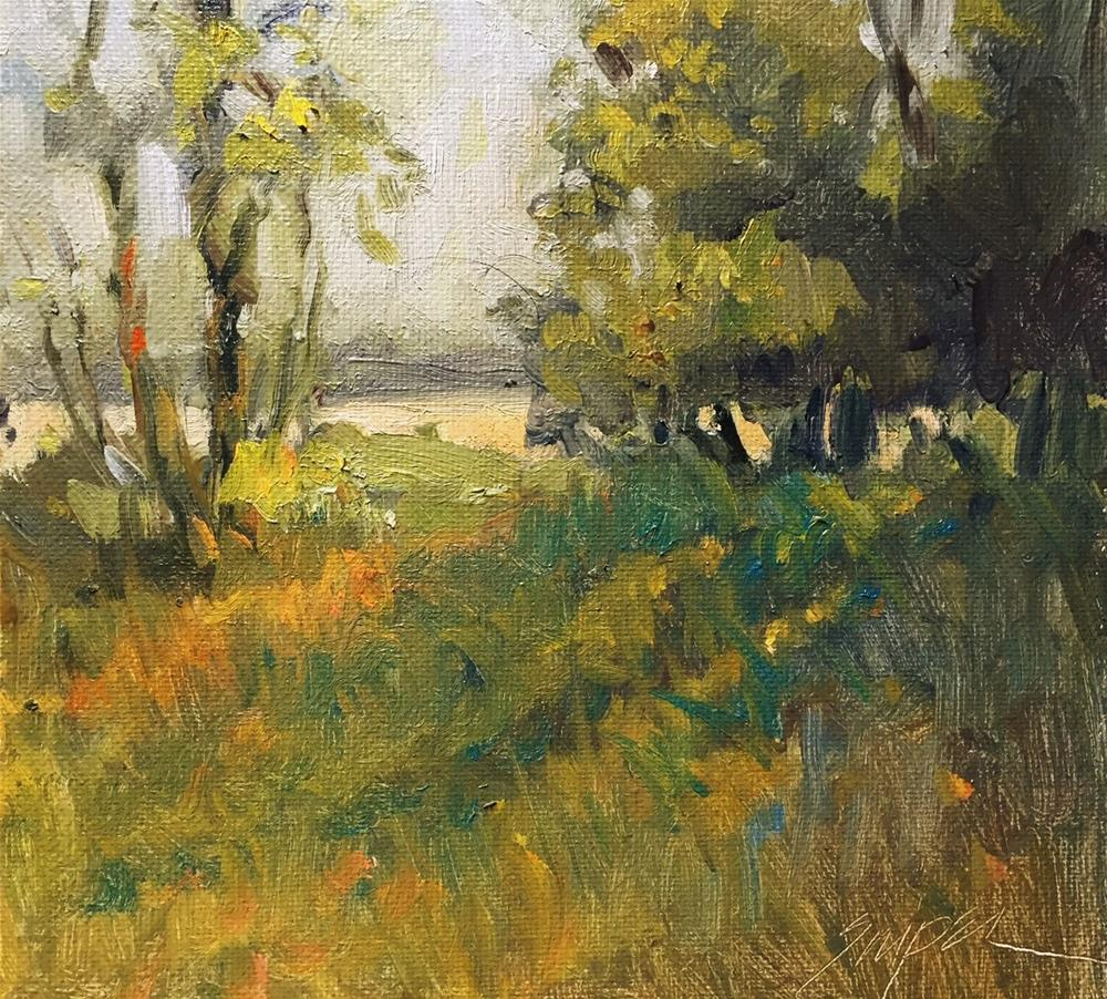 """Afternoon Pasture"" original fine art by Connie Snipes"