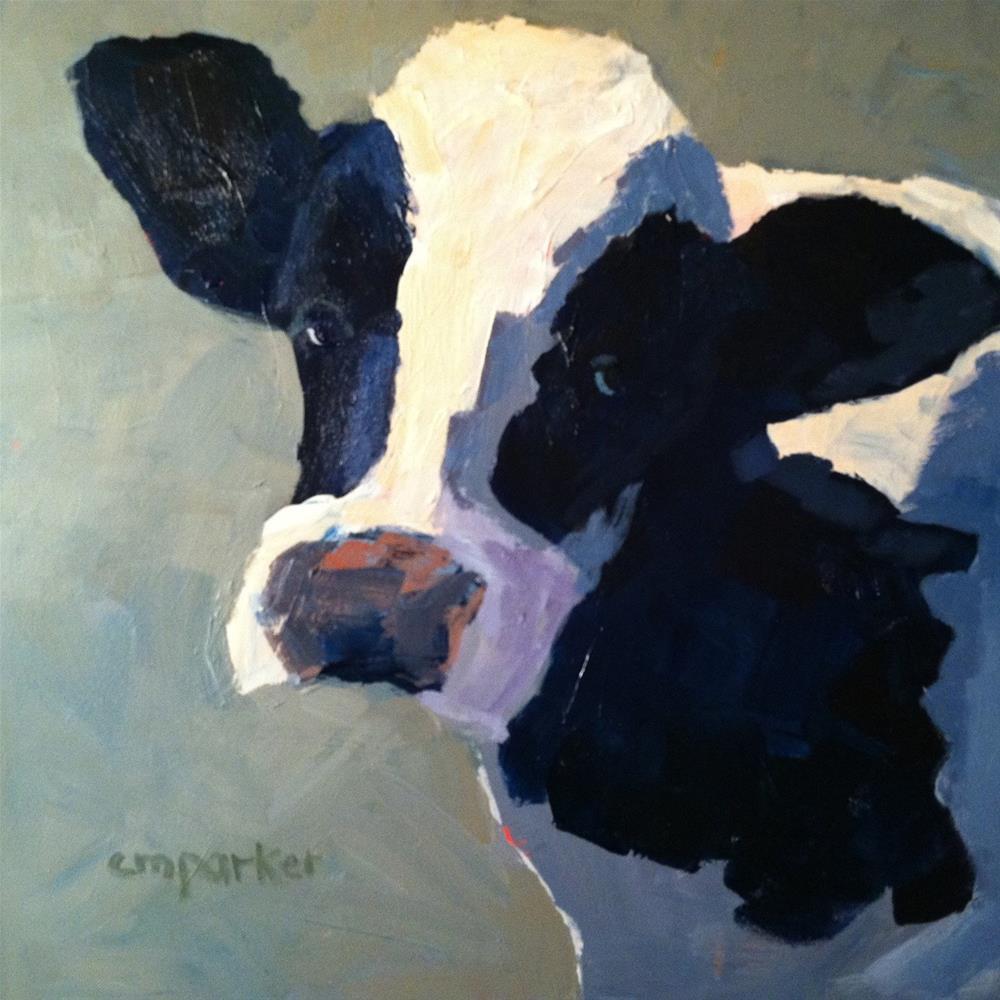 """Cow"" original fine art by Christine Parker"