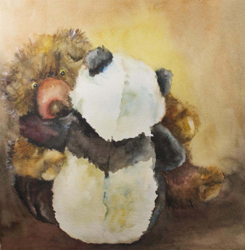 """Bear Hug"" original fine art by Sue Churchgrant"