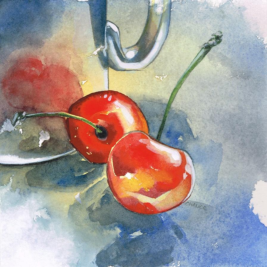 """""""No. 5 Cherries"""" original fine art by Annabel Chance"""