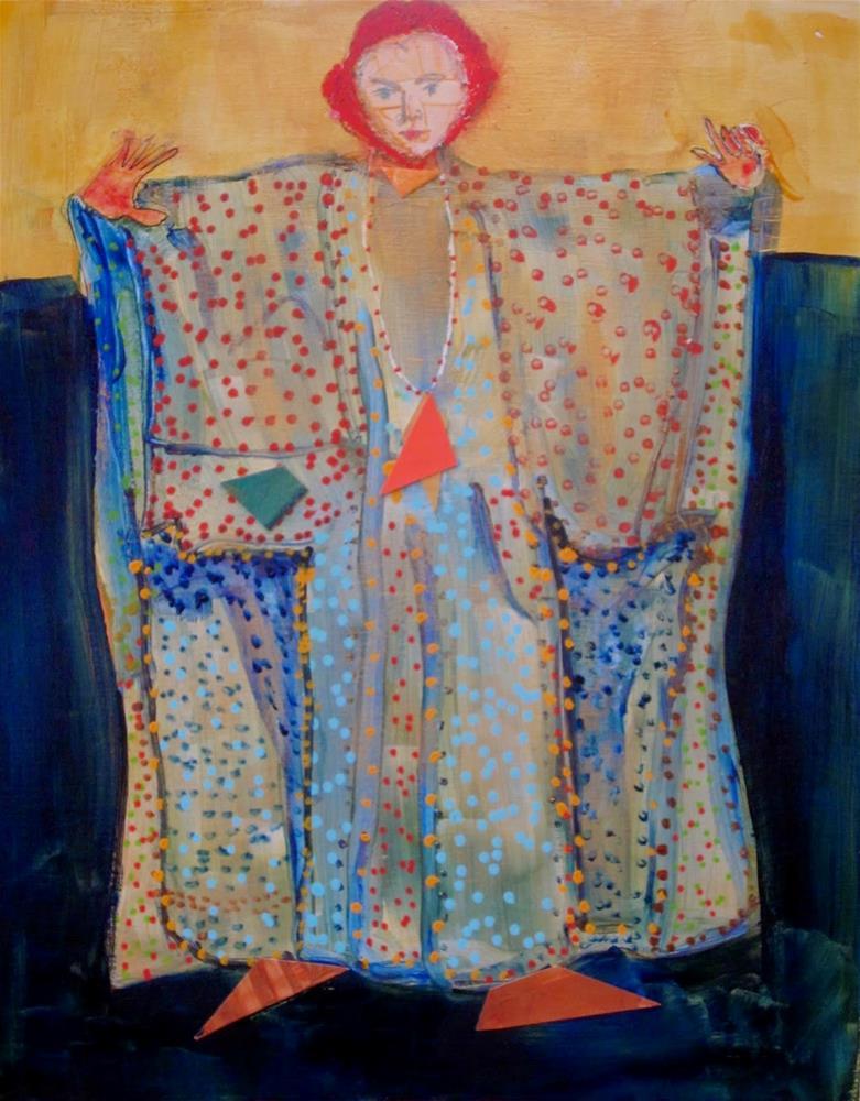 """Girl in Caftan"" original fine art by Carol Wiley"