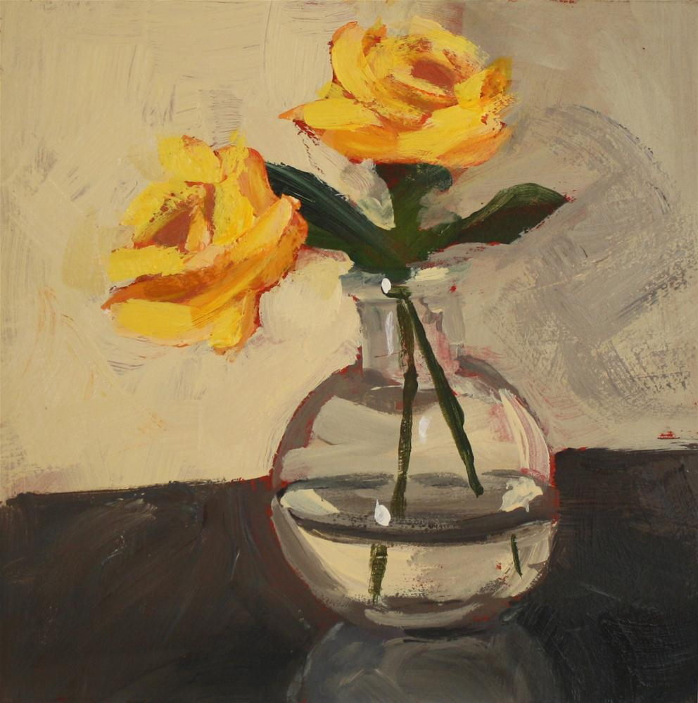 """Yellow Roses"" original fine art by Shannon Bauer"