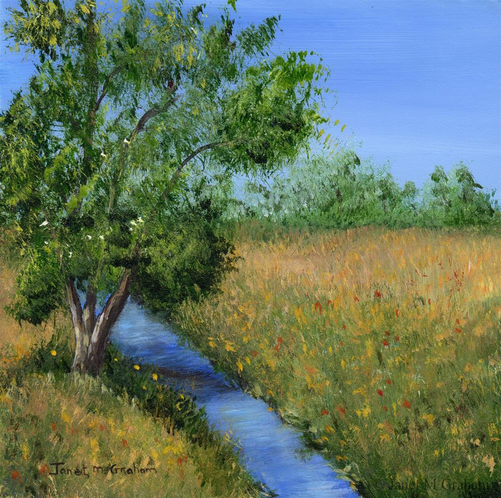"""Country Stream"" original fine art by Janet Graham"