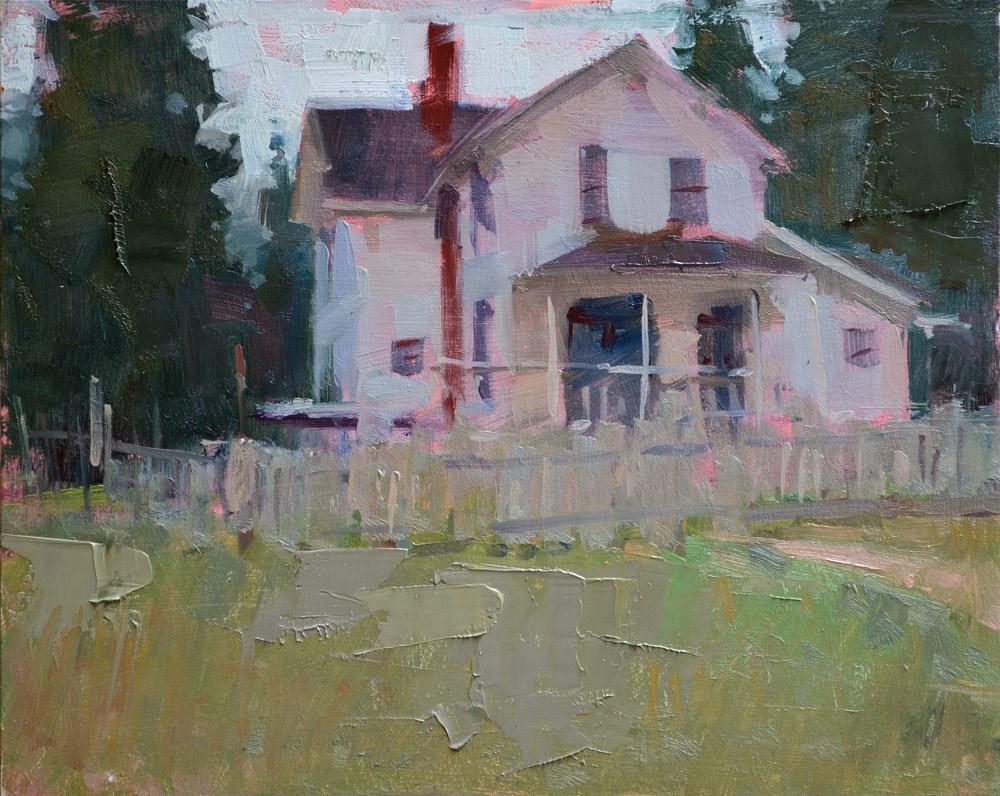 """""""Farm House"""" original fine art by Carol Marine"""