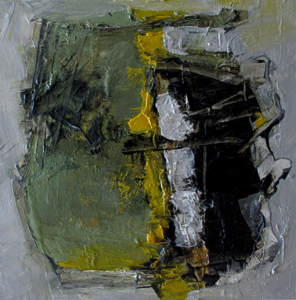 """A SCULPTURE GARDEN Original Abstract 4X4 Painting OIL"" original fine art by Colette Davis"