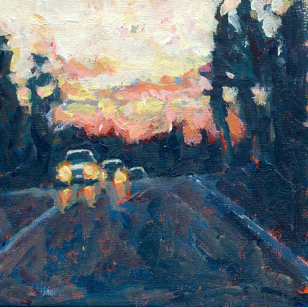 """sunset on 88"" original fine art by Shelley Garries"
