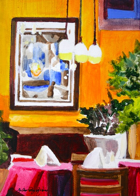 """Table is Set"" original fine art by JoAnne Perez Robinson"