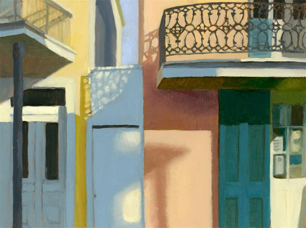 """Sun and Shadow New Orleans"" original fine art by Nancy Herman"