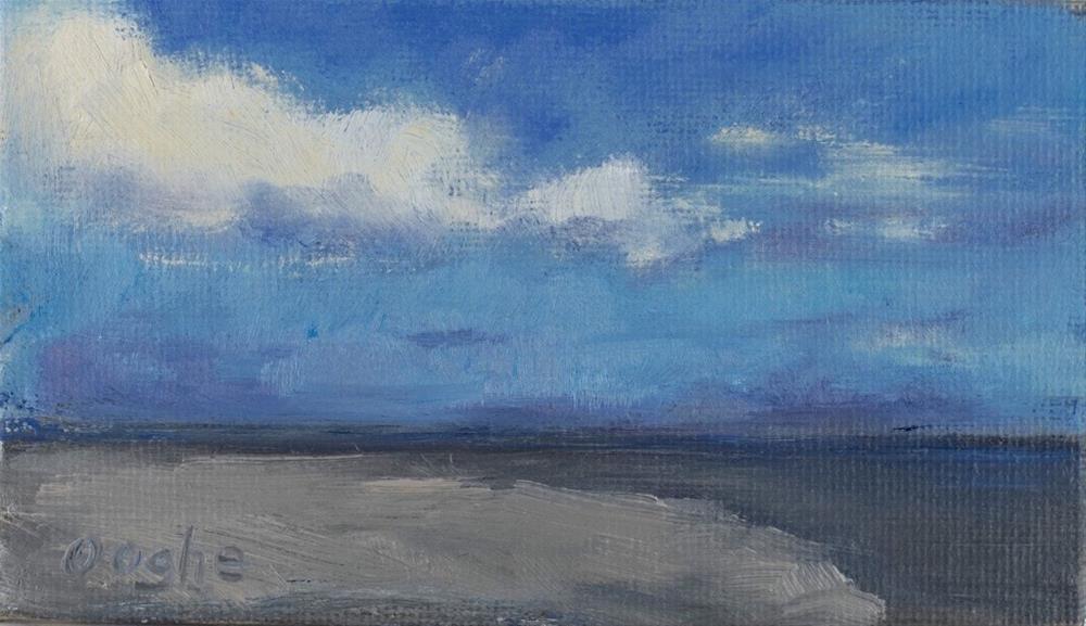 """Empty Beach"" original fine art by Angela Ooghe"