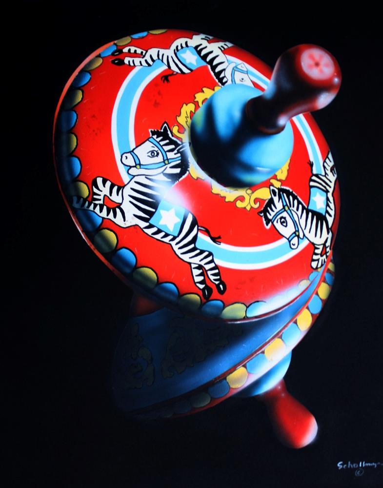 """""""Zebra Spinner"""" original fine art by Fred Schollmeyer"""