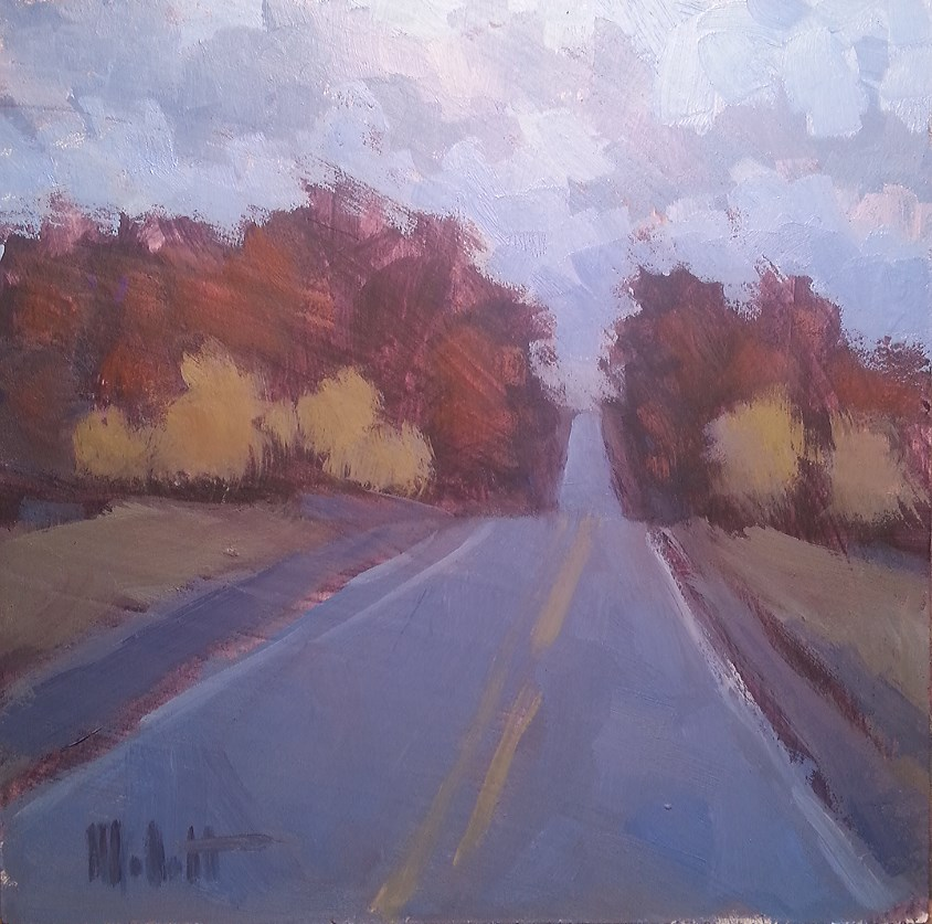 """Autumn Midtone Morning Light Fall Oil Painting Landscape"" original fine art by Heidi Malott"