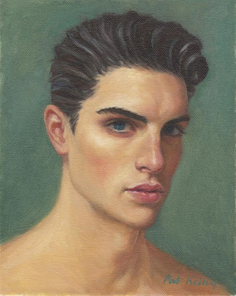 """Study of a Young Man"" original fine art by Pat Kelley"