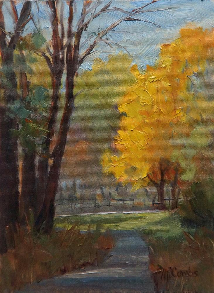 """Autumn Stroll"" original fine art by Michele Combs"