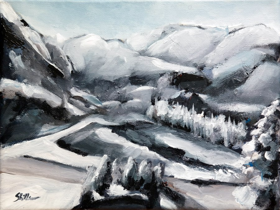 """1603 Winter comes"" original fine art by Dietmar Stiller"