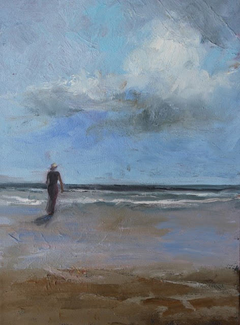 """Solitude, Beach and Ocean Paintings by Amy Whitehouse"" original fine art by Amy Whitehouse"