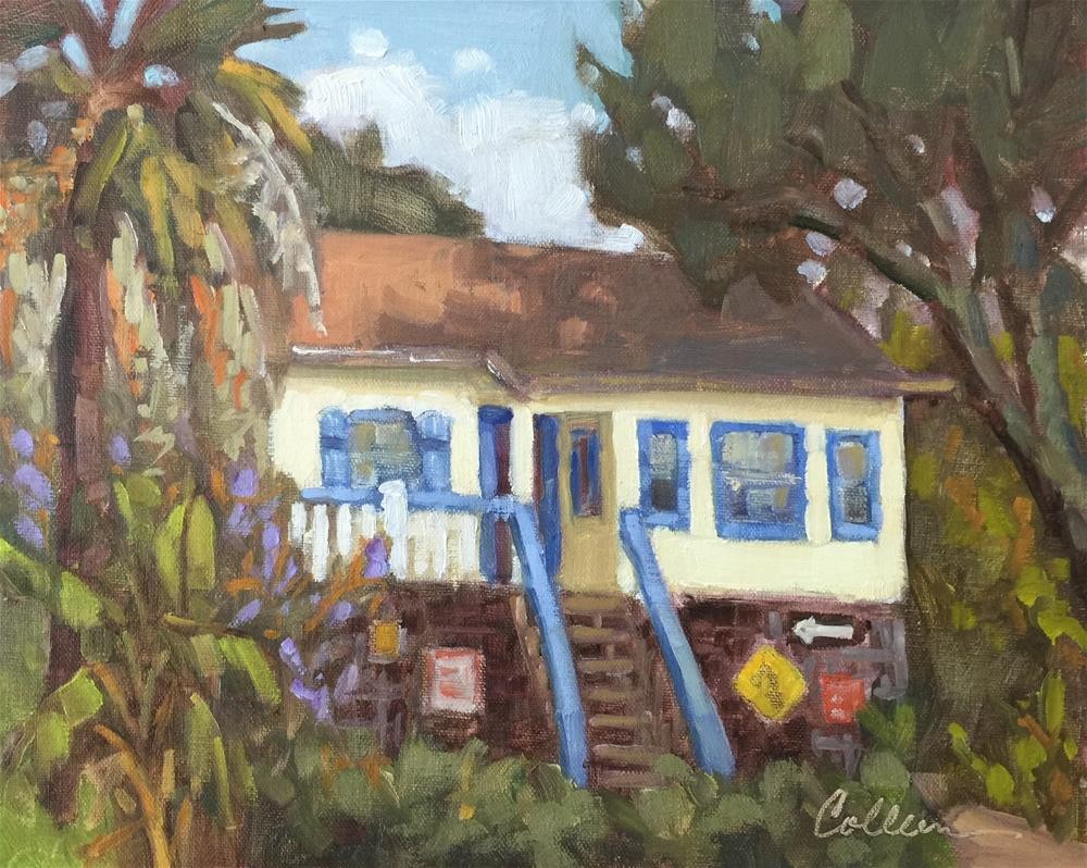 """Little Beach House"" original fine art by Colleen Parker"