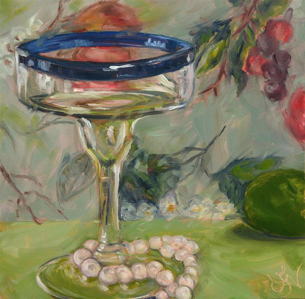 """Rita's Pearls"" original fine art by Jan Jackson"