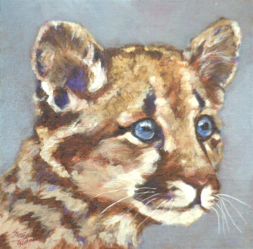 """Cougar Cub"" original fine art by Carla Ridener"