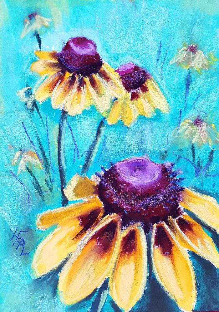 """Brown Eyed Girls"" original fine art by Anna Lisa Leal"
