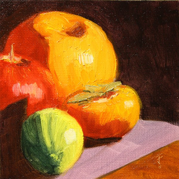 """Gift Fruit"" original fine art by Jane Frederick"