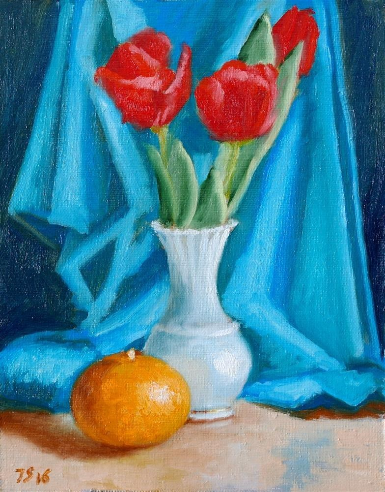 """tulips 2"" original fine art by Yuriy Semyonov"