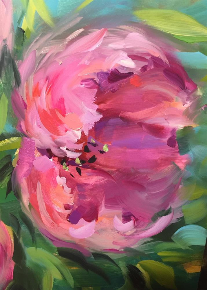 """Be Free Pink Tulips - Nancy Medina Art Videos and Classes"" original fine art by Nancy Medina"