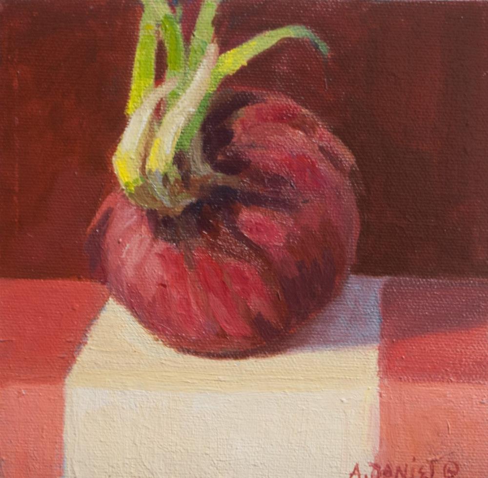 """""""Red Onion"""" original fine art by Arlene Daniel"""