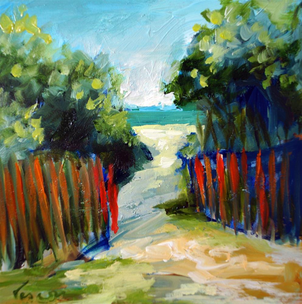 """Path to Delray Beach"" original fine art by Valerie Vescovi"