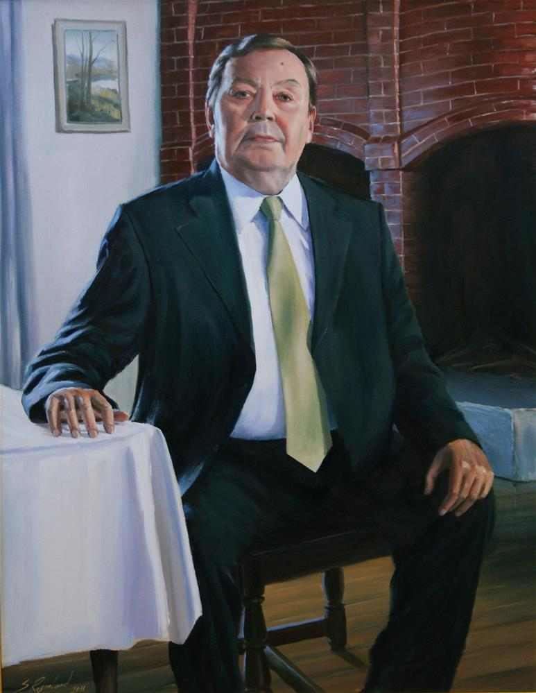 """comissioned portrait"" original fine art by Stig Rosenlund"