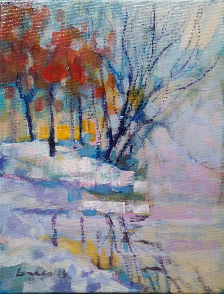"""landscape #5"" original fine art by salvatore greco"