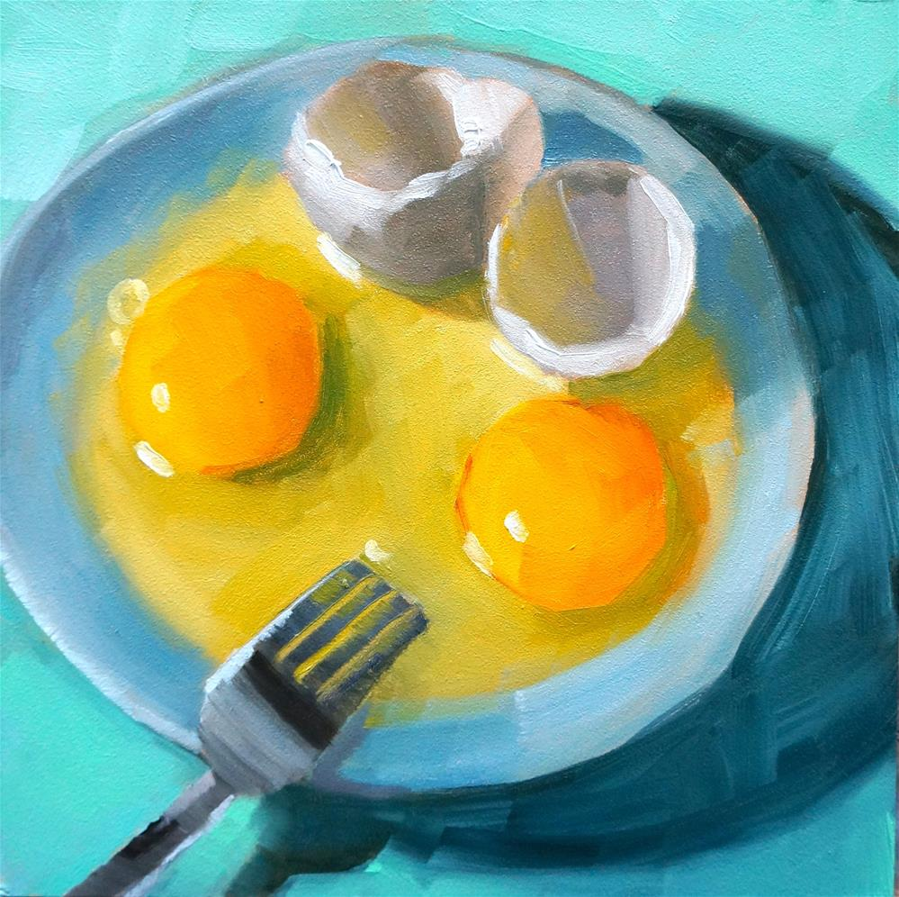 """Eggs"" original fine art by Dipali Rabadiya"