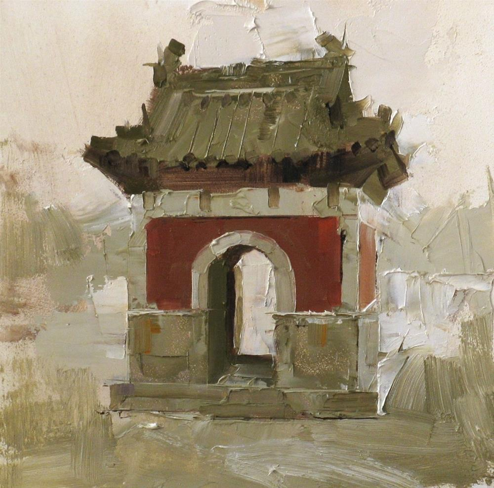 """""Flower Spirit Temple"" original fine art by Qiang Huang"