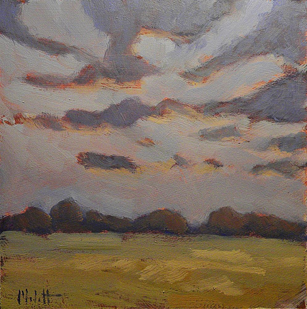 """Autumn Skies Soybean Fields Fall Oil Painting Heidi Malott"" original fine art by Heidi Malott"