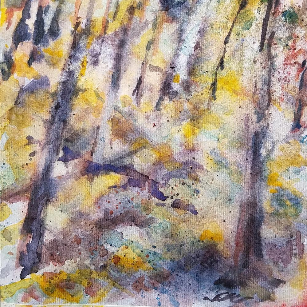 """Forest Floor"" original fine art by Jean Krueger"
