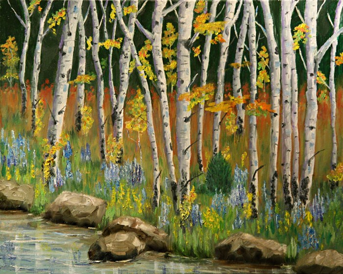 """""""Expressions of  Autumn"""" original fine art by Sunny Williams"""
