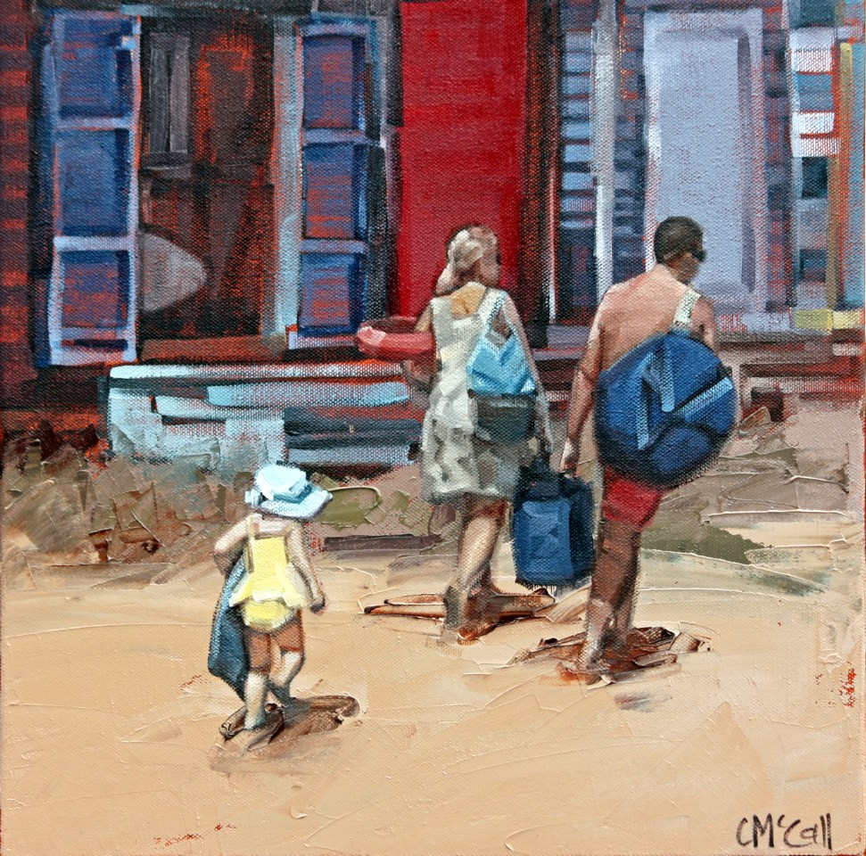 """Hot Sand"" original fine art by Claire McCall"
