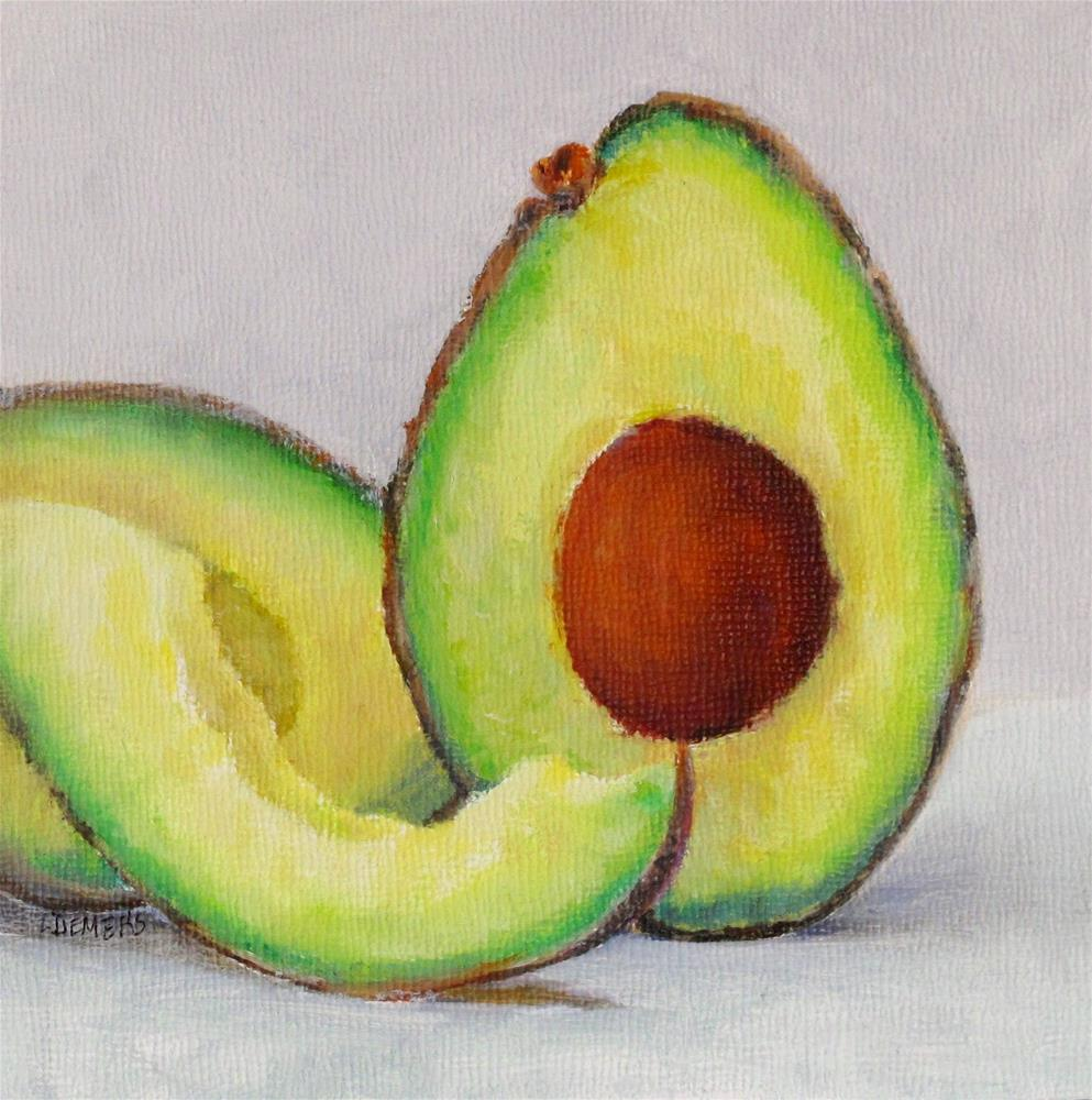 """Avacado Study"" original fine art by Linda Demers"