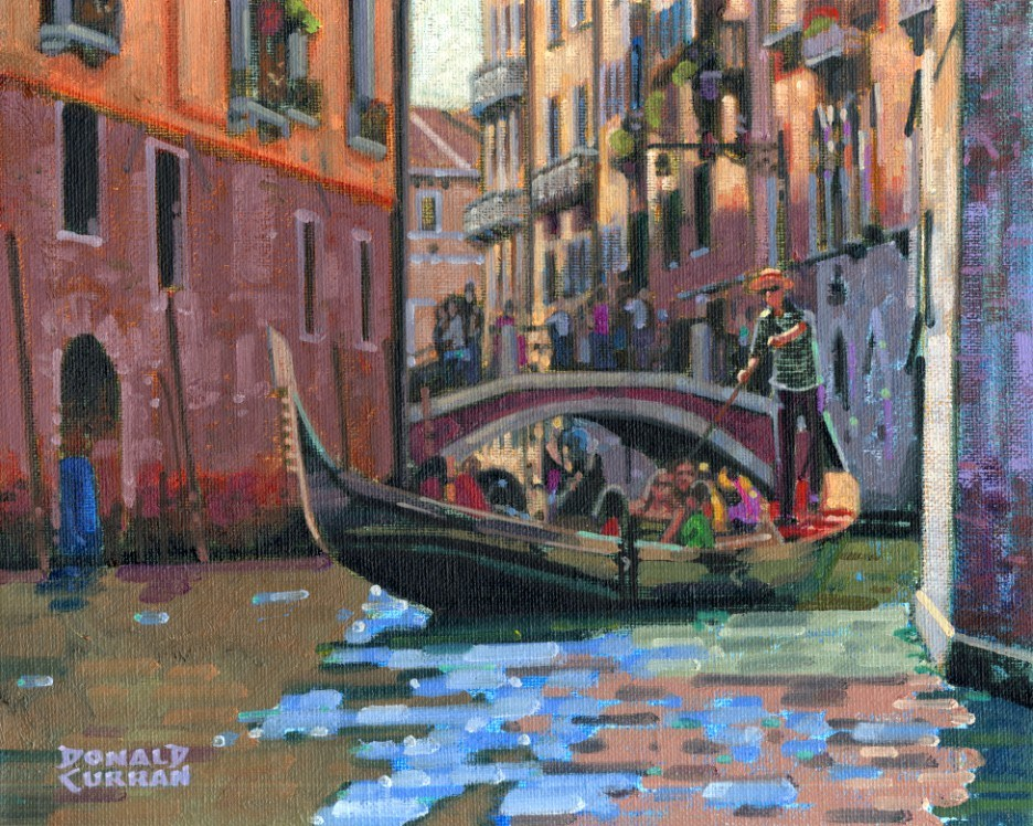 """Colorful Venice, Italy"" original fine art by Donald Curran"