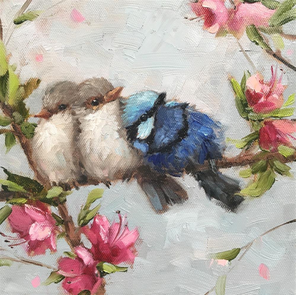"""Fluffy Friends"" original fine art by Krista Eaton"
