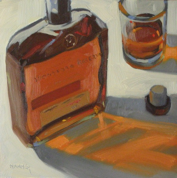 """Woodford Reserve II, 6x6 oil"" original fine art by Claudia Hammer"