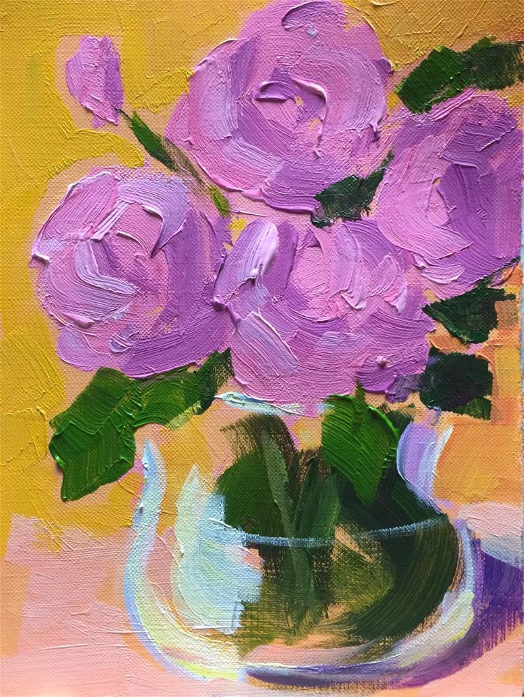 """Pink Roses"" original fine art by Naomi Bautista"