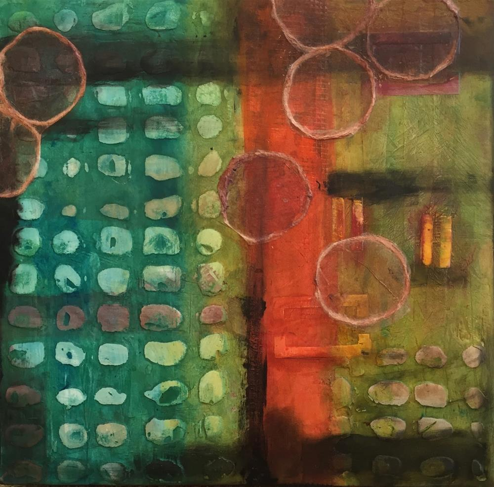 """High Density I, 12 x 12, Mixed Media"" original fine art by Ceci Lam"